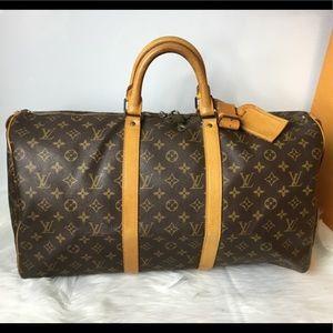 100% Authen Louis Vuitton 1985 Vintage Keepall 50